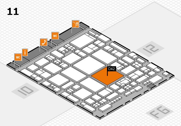 glasstec 2016 hall map (Hall 11): stand D42