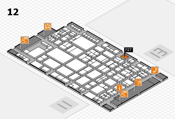 glasstec 2016 Hallenplan (Halle 12): Stand F27