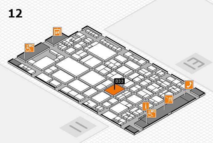glasstec 2016 hall map (Hall 12): stand B33