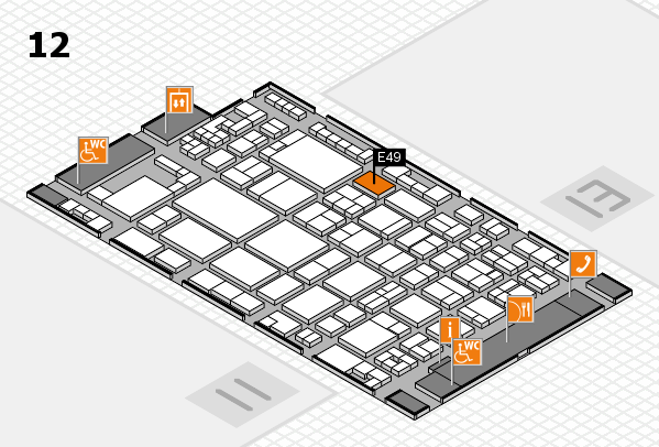 glasstec 2016 hall map (Hall 12): stand E49