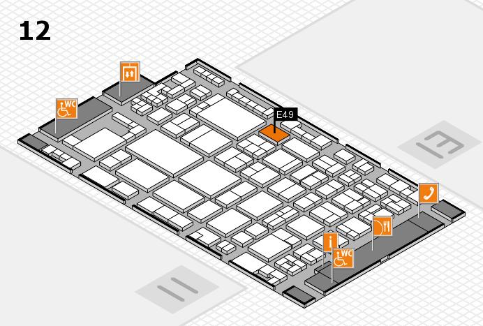 glasstec 2016 Hallenplan (Halle 12): Stand E49