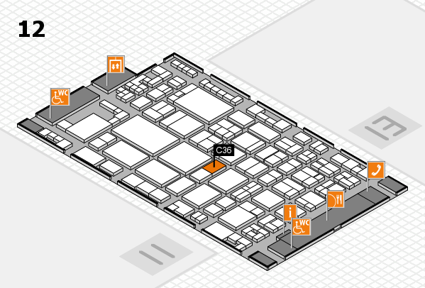 glasstec 2016 hall map (Hall 12): stand C36