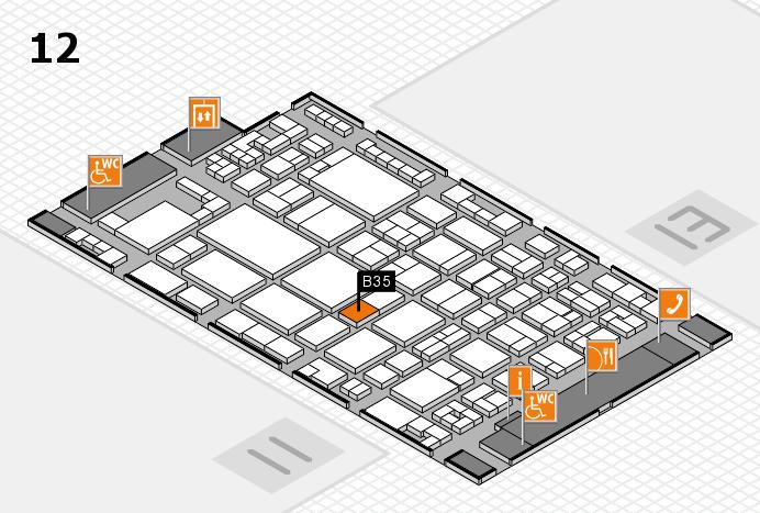 glasstec 2016 hall map (Hall 12): stand B35