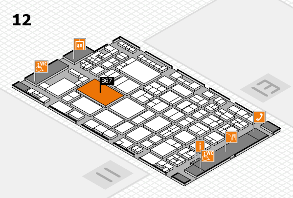 glasstec 2016 hall map (Hall 12): stand B67