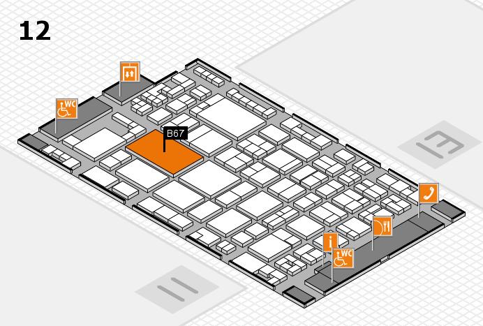 glasstec 2016 hall map (Hall 12): stand B67