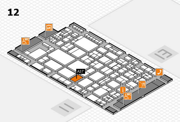 glasstec 2016 hall map (Hall 12): stand A37