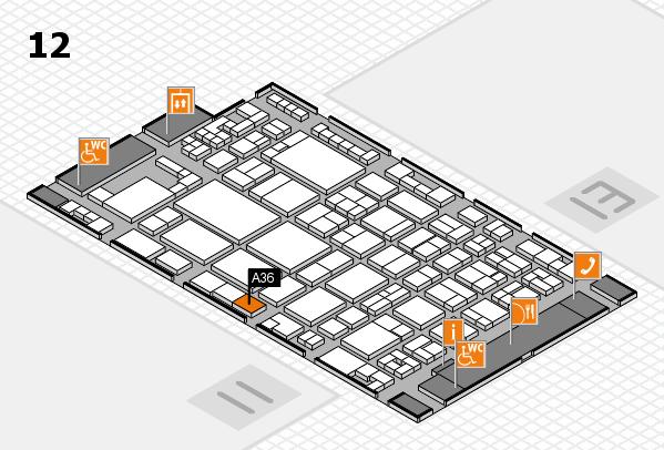 glasstec 2016 hall map (Hall 12): stand A36