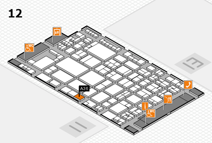 glasstec 2016 hall map (Hall 12): stand A36