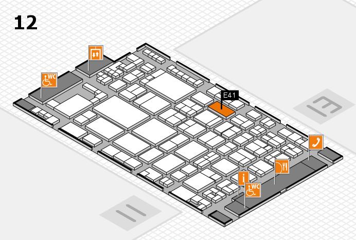 glasstec 2016 hall map (Hall 12): stand E41