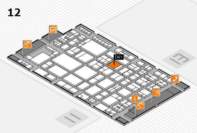 glasstec 2016 hall map (Hall 12): stand D41