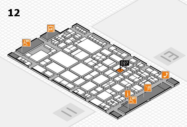 glasstec 2016 hall map (Hall 12): stand D27