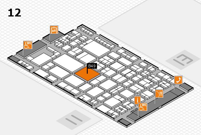 glasstec 2016 Hallenplan (Halle 12): Stand B49