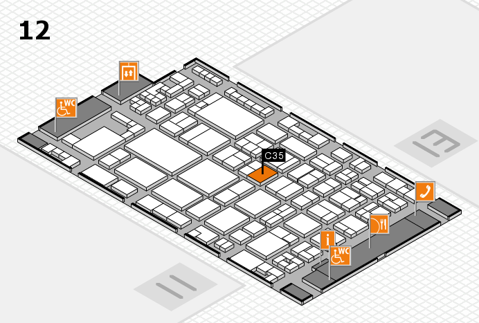 glasstec 2016 hall map (Hall 12): stand C35