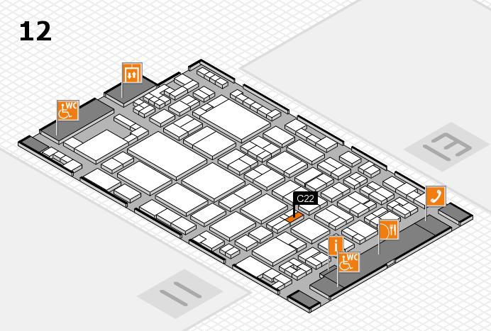 glasstec 2016 hall map (Hall 12): stand C22