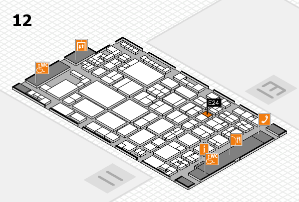 glasstec 2016 hall map (Hall 12): stand E24