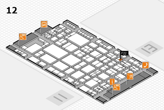glasstec 2016 Hallenplan (Halle 12): Stand F22