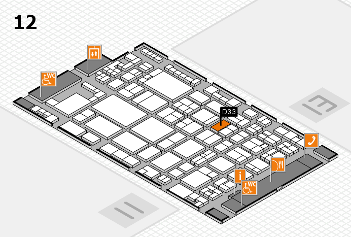 glasstec 2016 hall map (Hall 12): stand D33