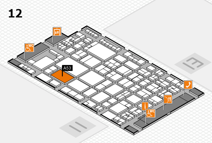 glasstec 2016 hall map (Hall 12): stand A53
