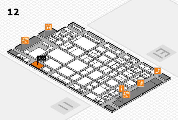 glasstec 2016 hall map (Hall 12): stand A66