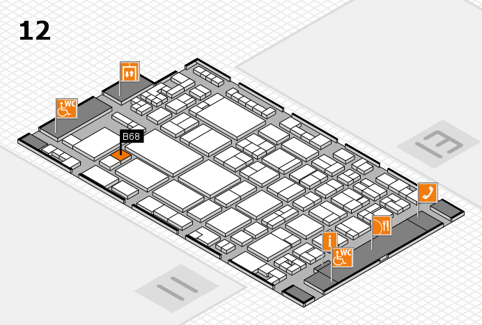 glasstec 2016 hall map (Hall 12): stand B68