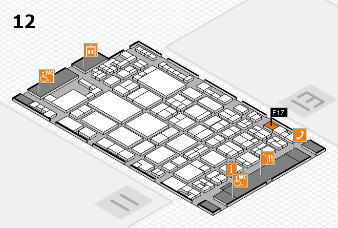 glasstec 2016 hall map (Hall 12): stand F17