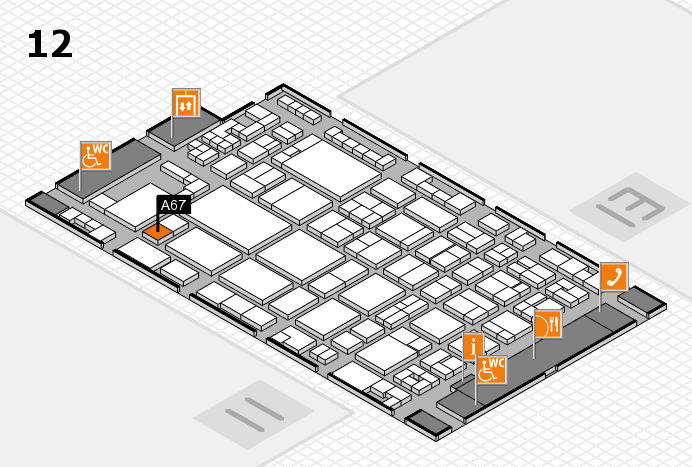 glasstec 2016 hall map (Hall 12): stand A67