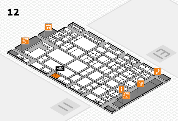 glasstec 2016 Hallenplan (Halle 12): Stand A50