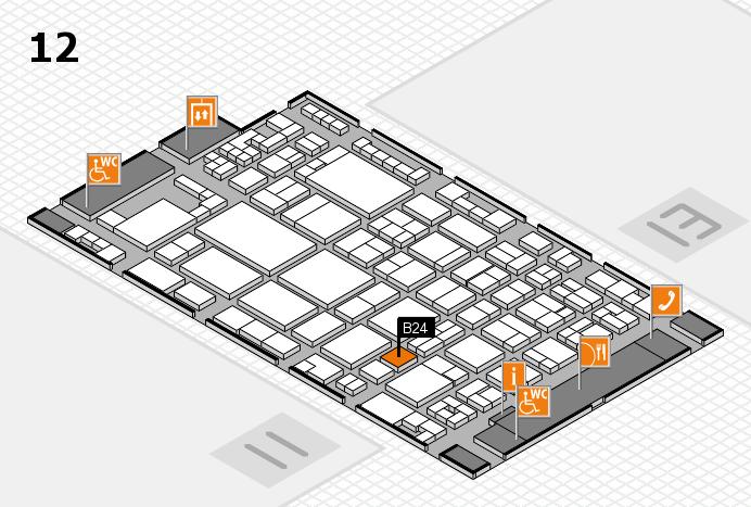 glasstec 2016 Hallenplan (Halle 12): Stand B24