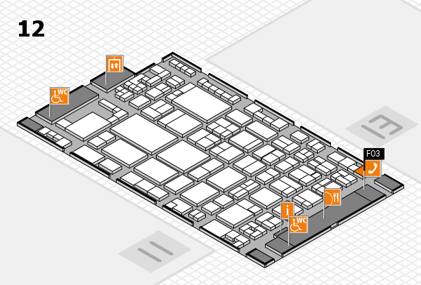 glasstec 2016 Hallenplan (Halle 12): Stand F03