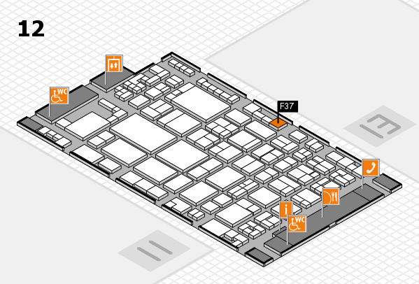 glasstec 2016 hall map (Hall 12): stand F37