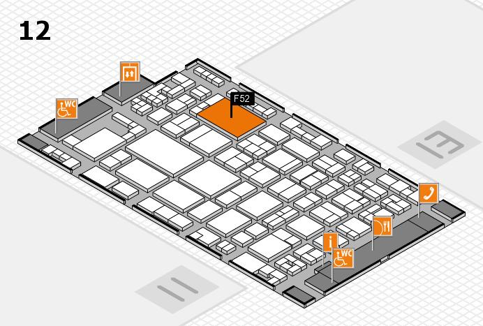 glasstec 2016 hall map (Hall 12): stand F52