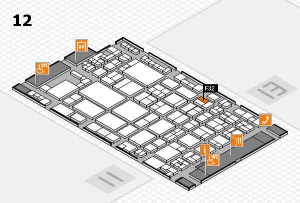 glasstec 2016 hall map (Hall 12): stand F32