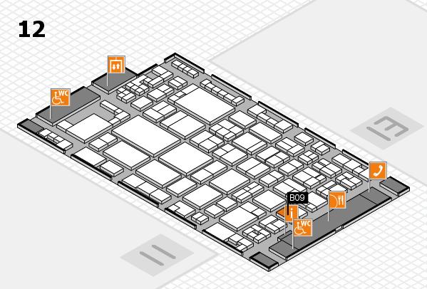 glasstec 2016 Hallenplan (Halle 12): Stand B09