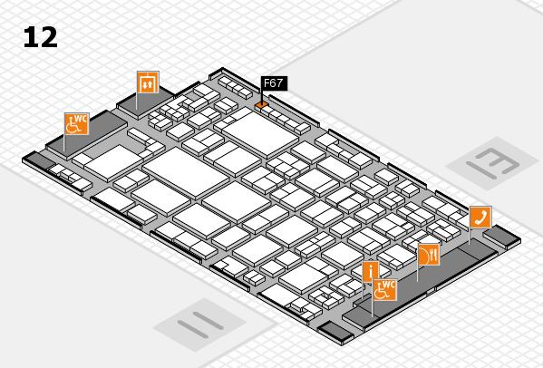 glasstec 2016 Hallenplan (Halle 12): Stand F67