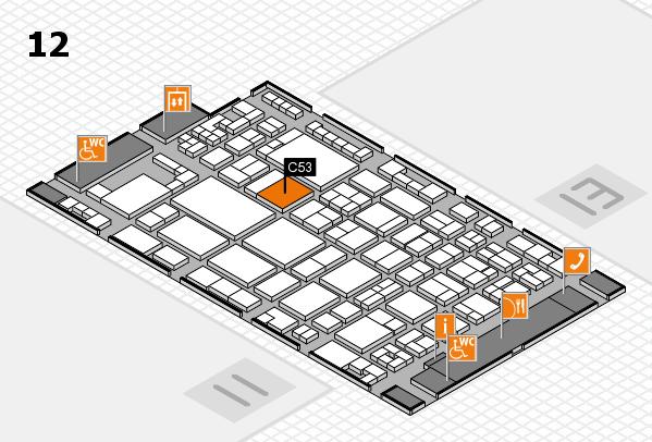 glasstec 2016 Hallenplan (Halle 12): Stand C53