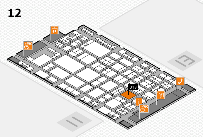 glasstec 2016 hall map (Hall 12): stand B19