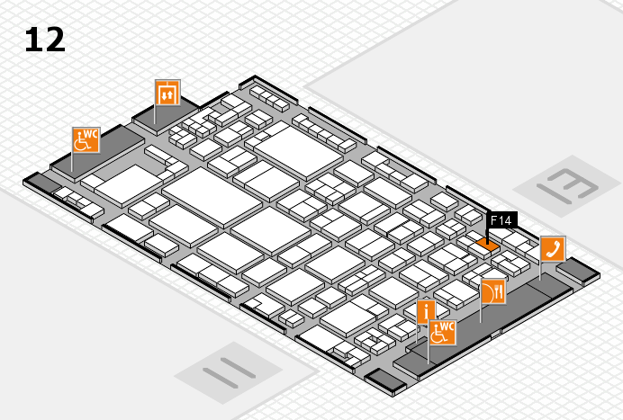 glasstec 2016 hall map (Hall 12): stand F14