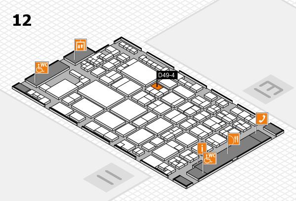 glasstec 2016 hall map (Hall 12): stand D49-4
