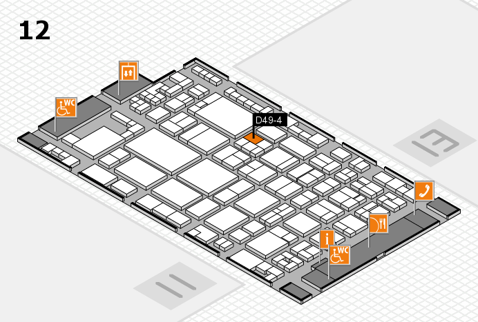 glasstec 2016 hall map (Hall 12): stand D49-4