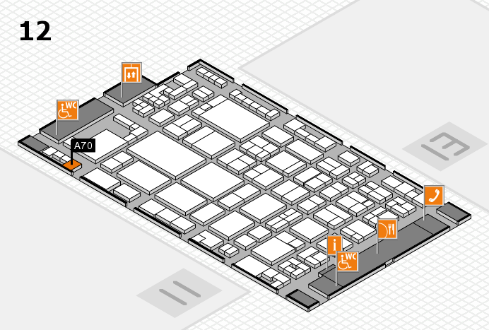 glasstec 2016 hall map (Hall 12): stand A70