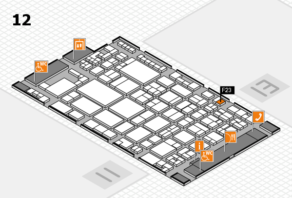 glasstec 2016 hall map (Hall 12): stand F23