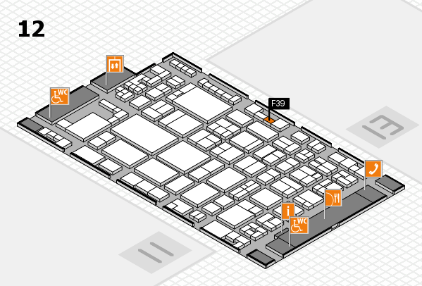 glasstec 2016 hall map (Hall 12): stand F39