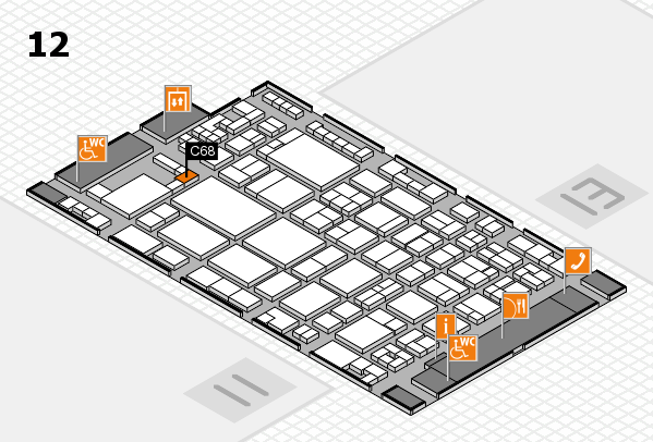 glasstec 2016 hall map (Hall 12): stand C68