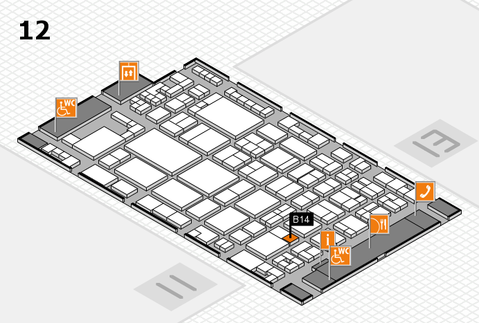 glasstec 2016 hall map (Hall 12): stand B14