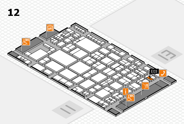 glasstec 2016 hall map (Hall 12): stand E03