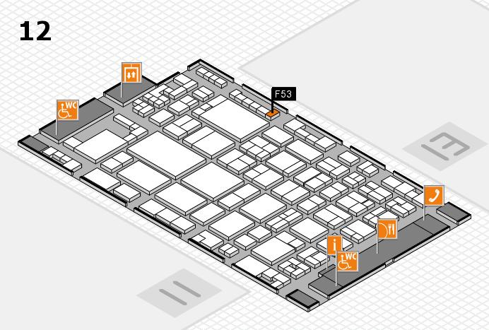 glasstec 2016 hall map (Hall 12): stand F53