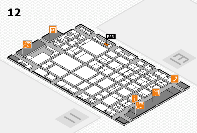 glasstec 2016 hall map (Hall 12): stand F55