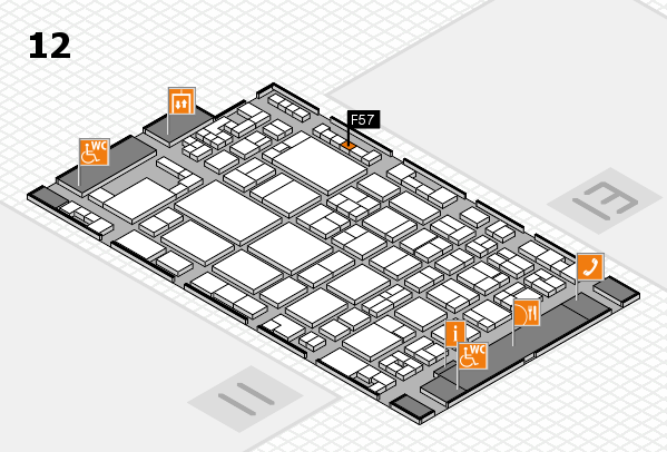 glasstec 2016 hall map (Hall 12): stand F57