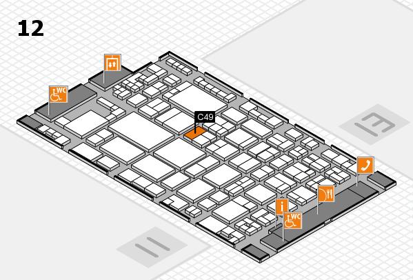 glasstec 2016 hall map (Hall 12): stand C49