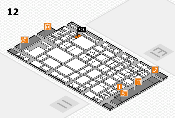 glasstec 2016 Hallenplan (Halle 12): Stand F68